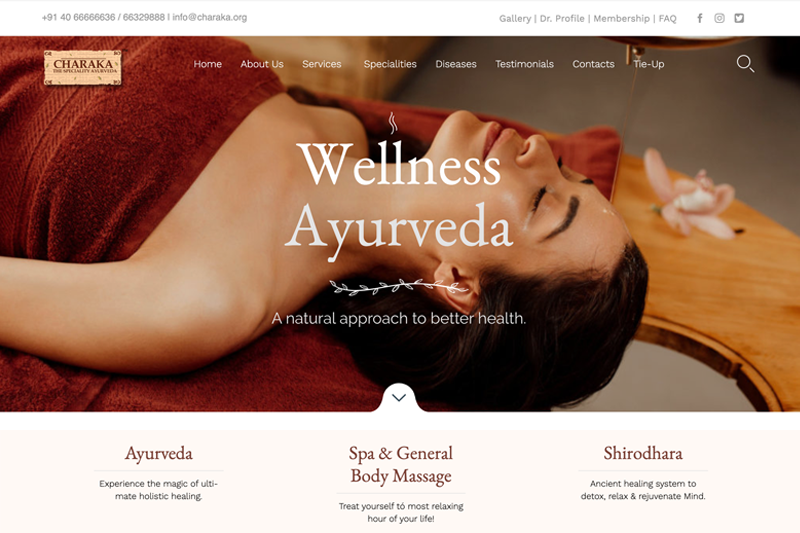 'CHARAKA-THE SPECIALITY AYURVEDA' Institute of Panchakarma & Research, a traditional health care & Panchakarma therapy center, came into existence in the year 2003, by a group of committed, dedicated and experienced professionals in the field of Ayurveda.